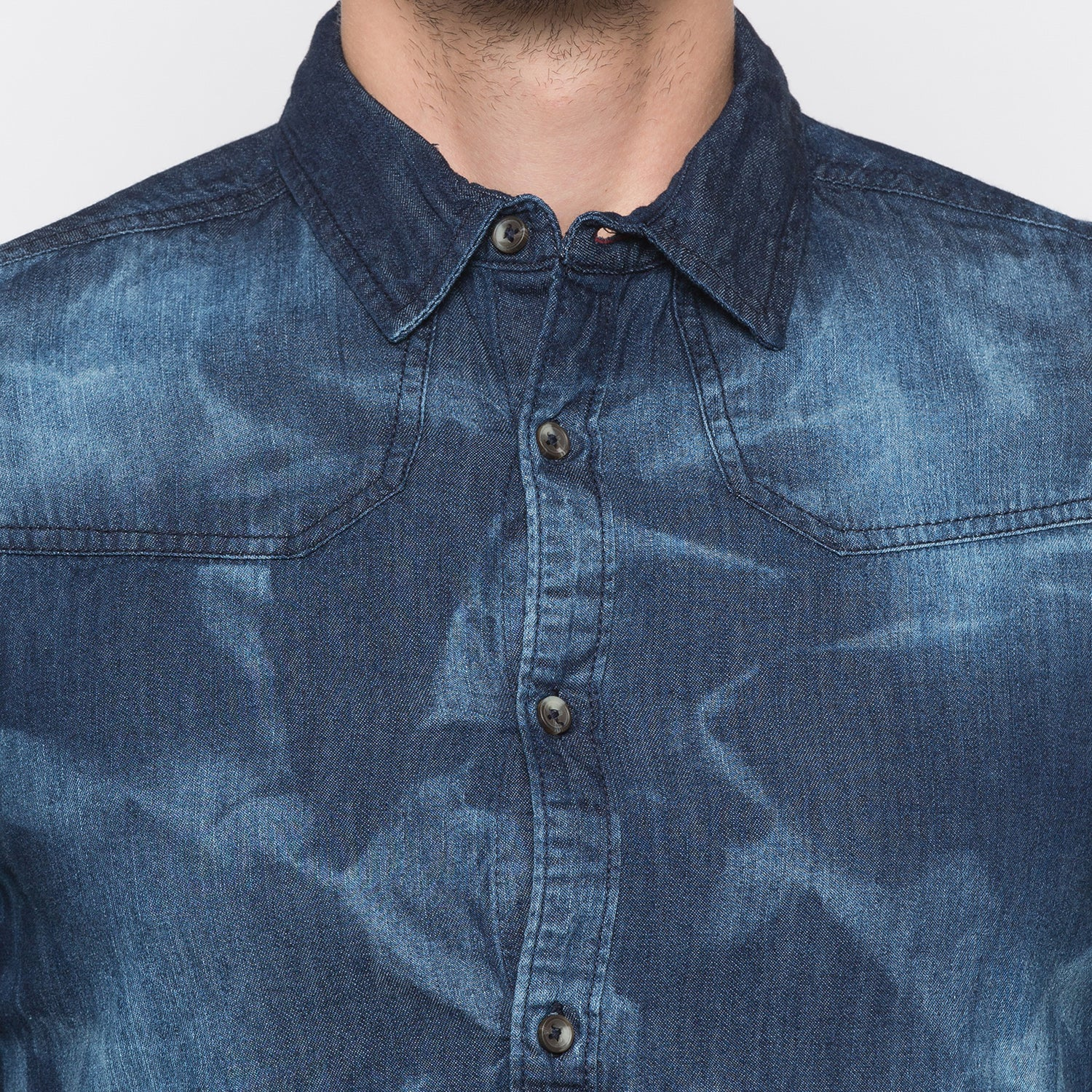 Globus Blue Printed Shirt-5
