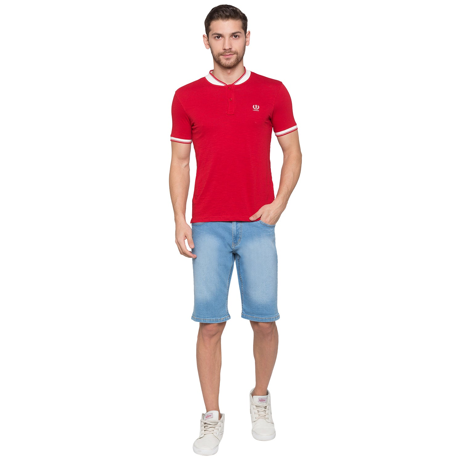 Globus Blue Solid Shorts-4