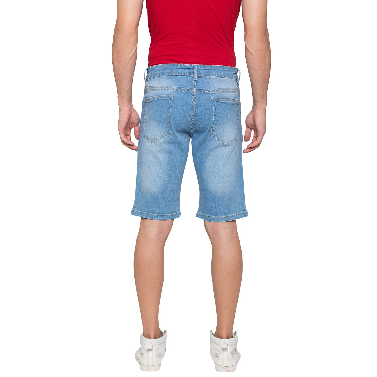 Globus Blue Solid Shorts-3