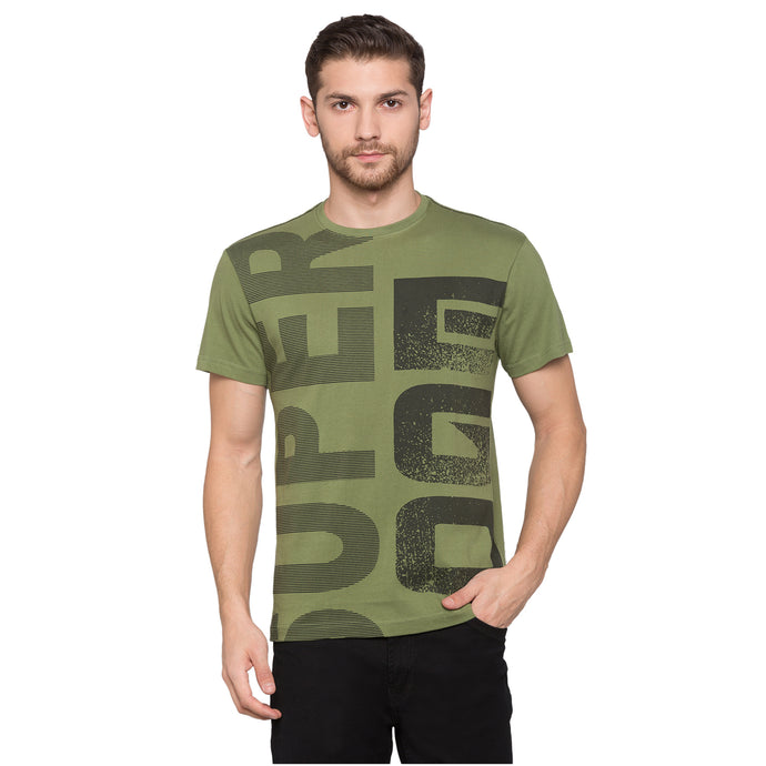 Globus Olive Typography T-Shirt1