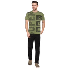 Load image into Gallery viewer, Globus Olive Typography T-Shirt4