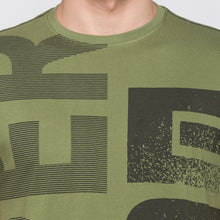 Load image into Gallery viewer, Globus Olive Typography T-Shirt5