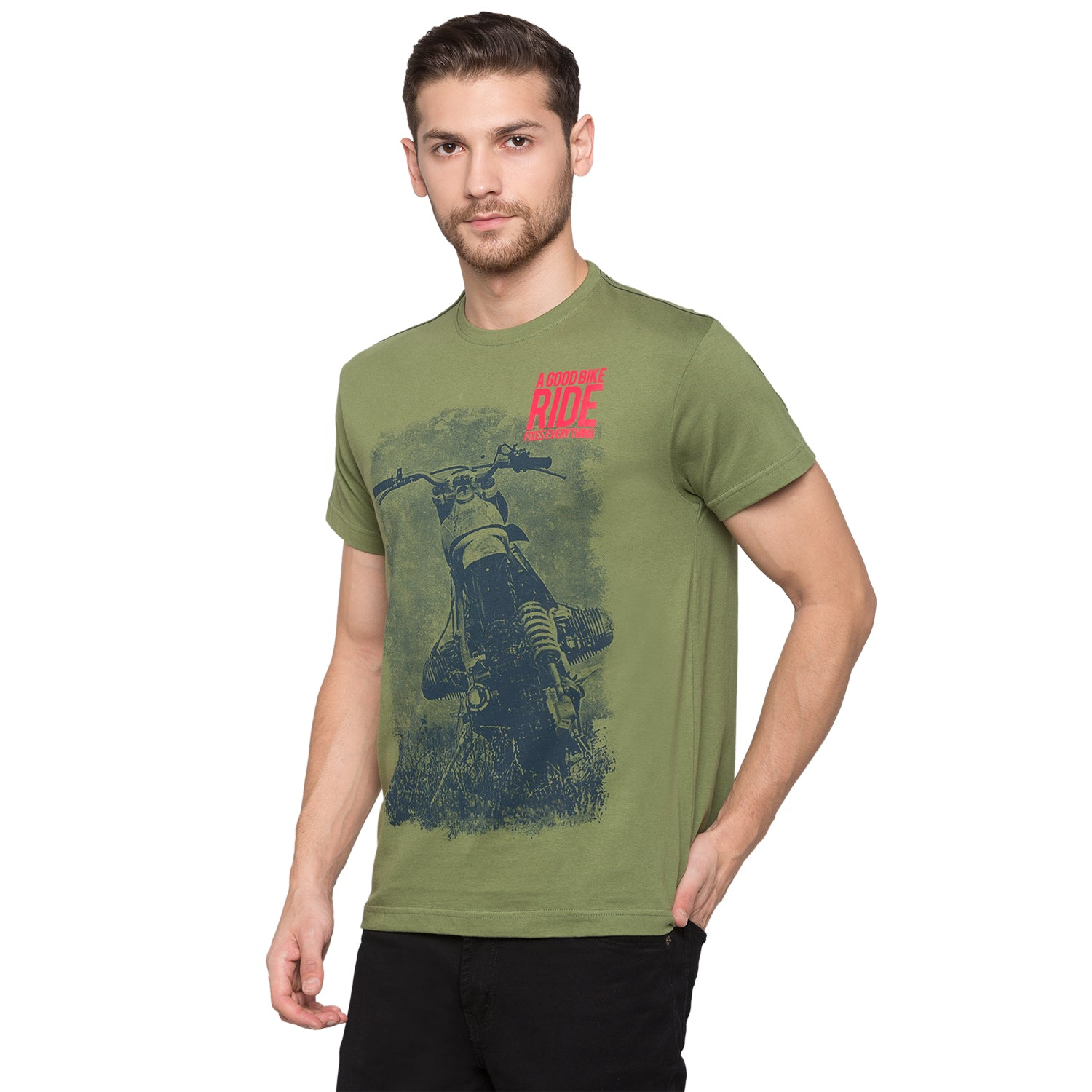 Globus Olive Graphic T-Shirt2