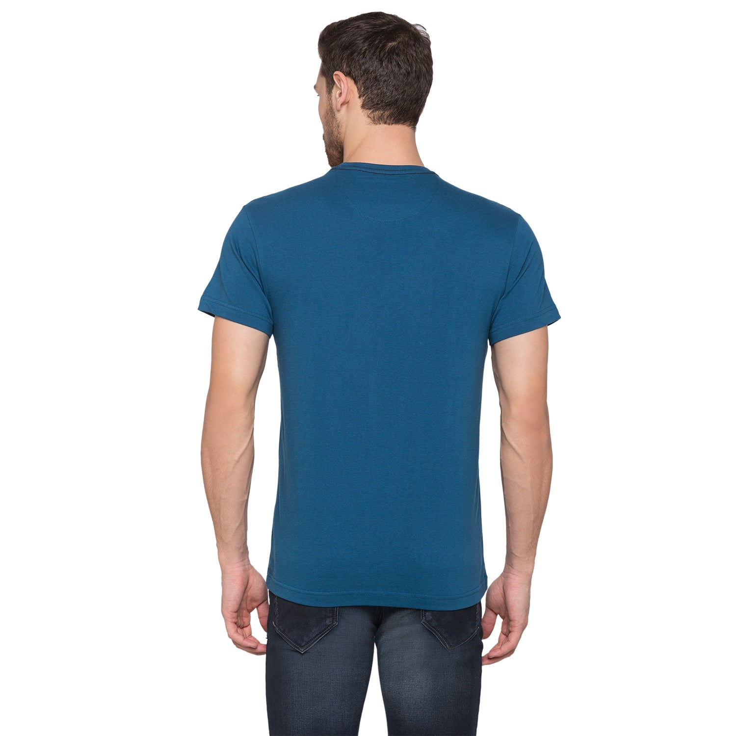 Globus Blue Typography T-Shirt3