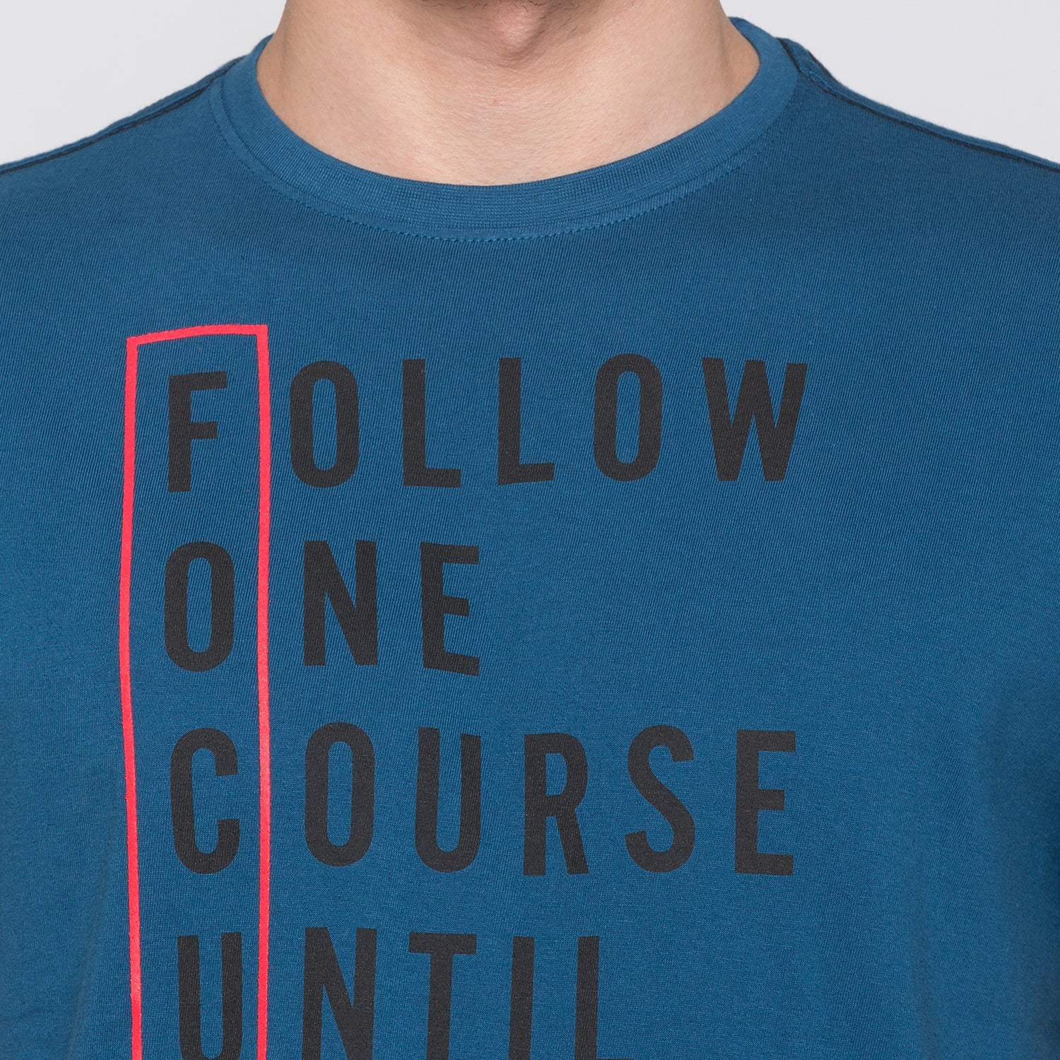 Globus Blue Typography T-Shirt5