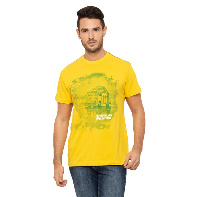 Globus Yellow Printed T-Shirt-1