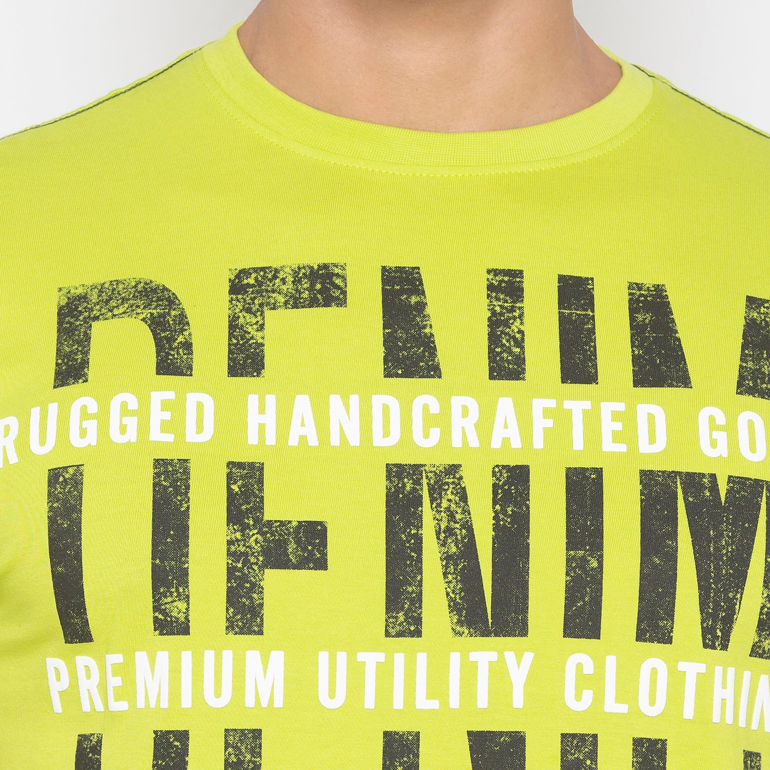 Lime Green Printed T-Shirt-5
