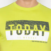 Load image into Gallery viewer, Lime Green Printed T-Shirt-5