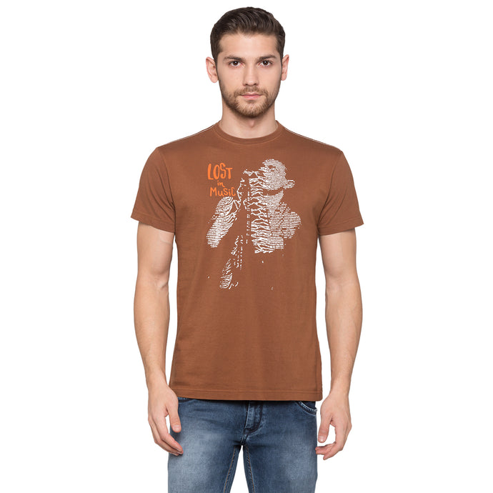 Globus Brown Graphic T-Shirt1