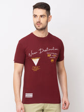 Load image into Gallery viewer, Globus Maroon Printed T-Shirt-1