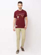 Load image into Gallery viewer, Globus Maroon Printed T-Shirt-5