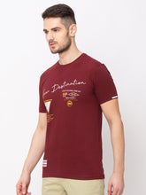 Load image into Gallery viewer, Globus Maroon Printed T-Shirt-2