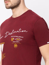 Load image into Gallery viewer, Globus Maroon Printed T-Shirt-4
