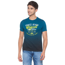 Load image into Gallery viewer, Ink Blue Printed T-Shirt-1
