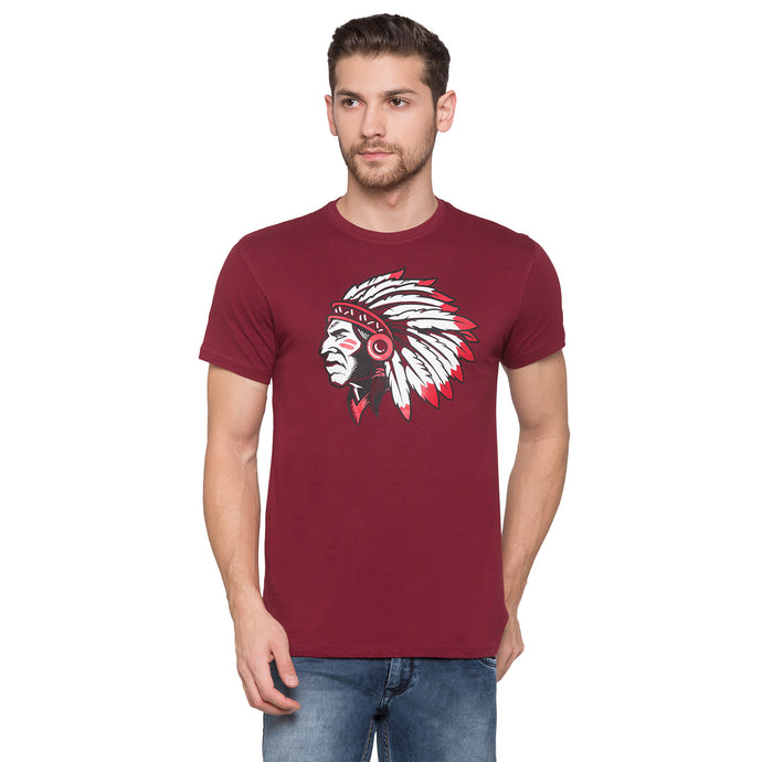 Globus Maroon Graphic T-Shirt1