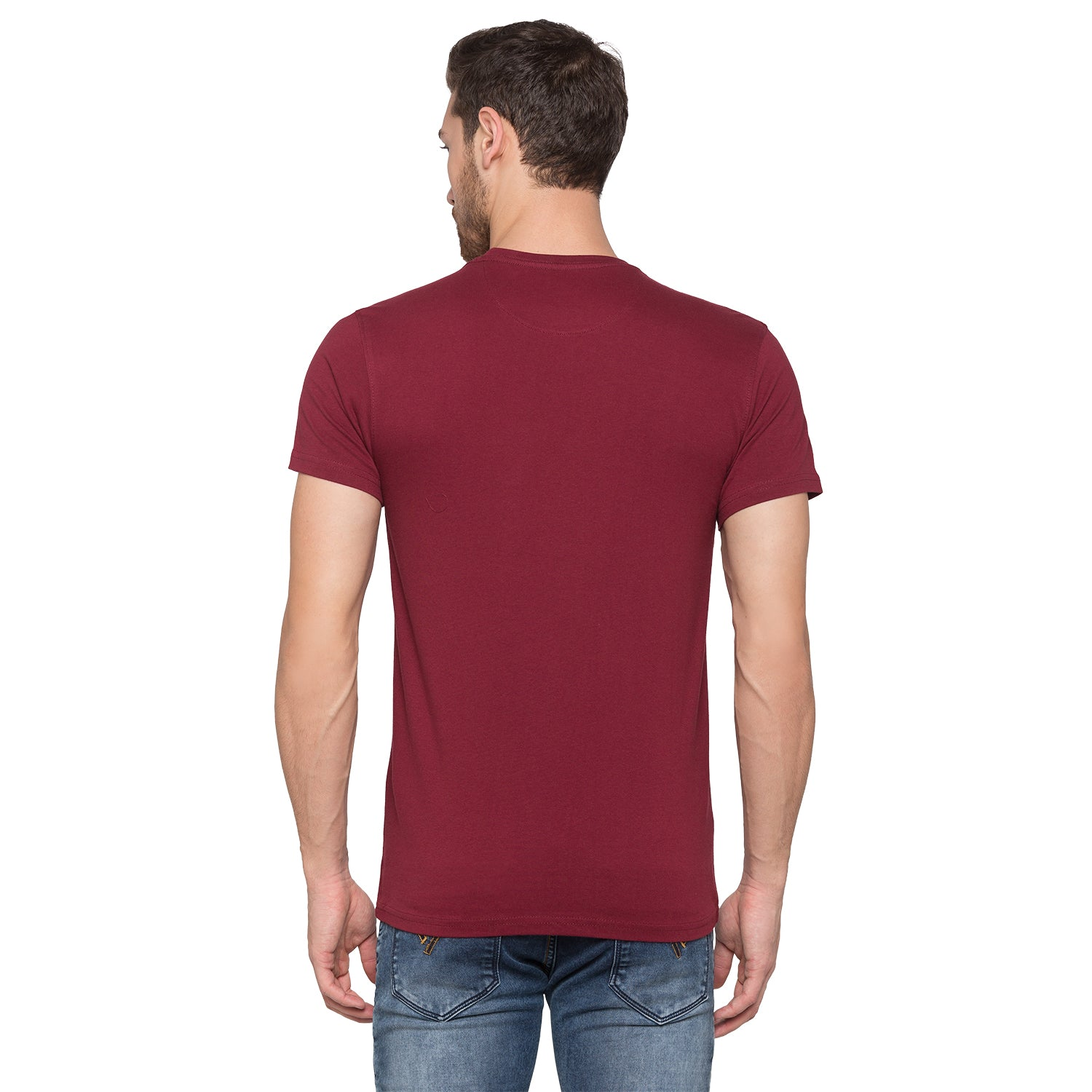 Globus Maroon Graphic T-Shirt3