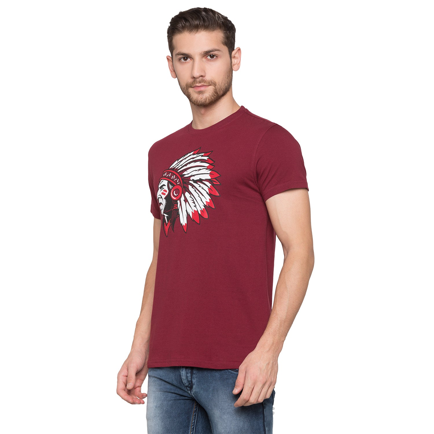 Globus Maroon Graphic T-Shirt2