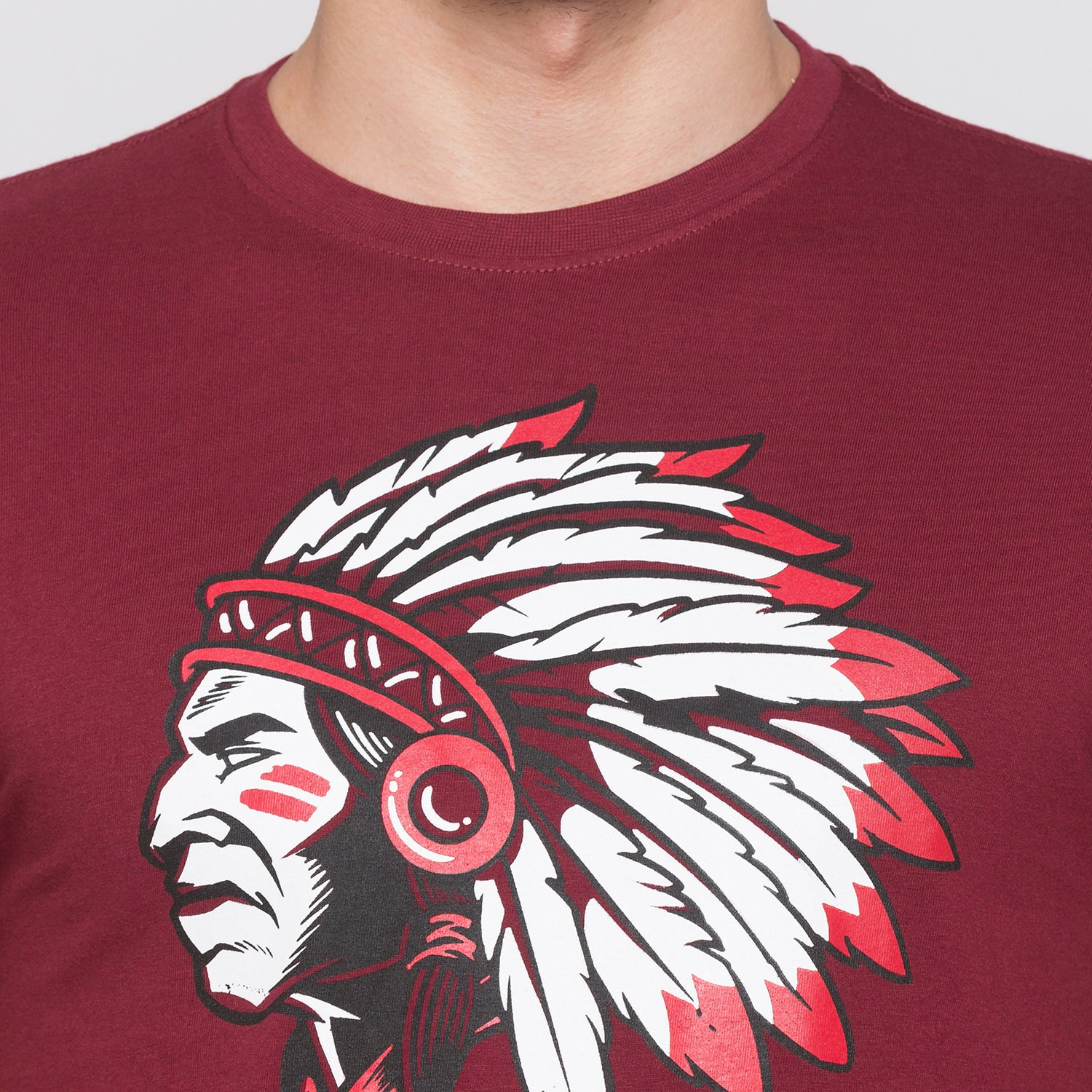 Globus Maroon Graphic T-Shirt5