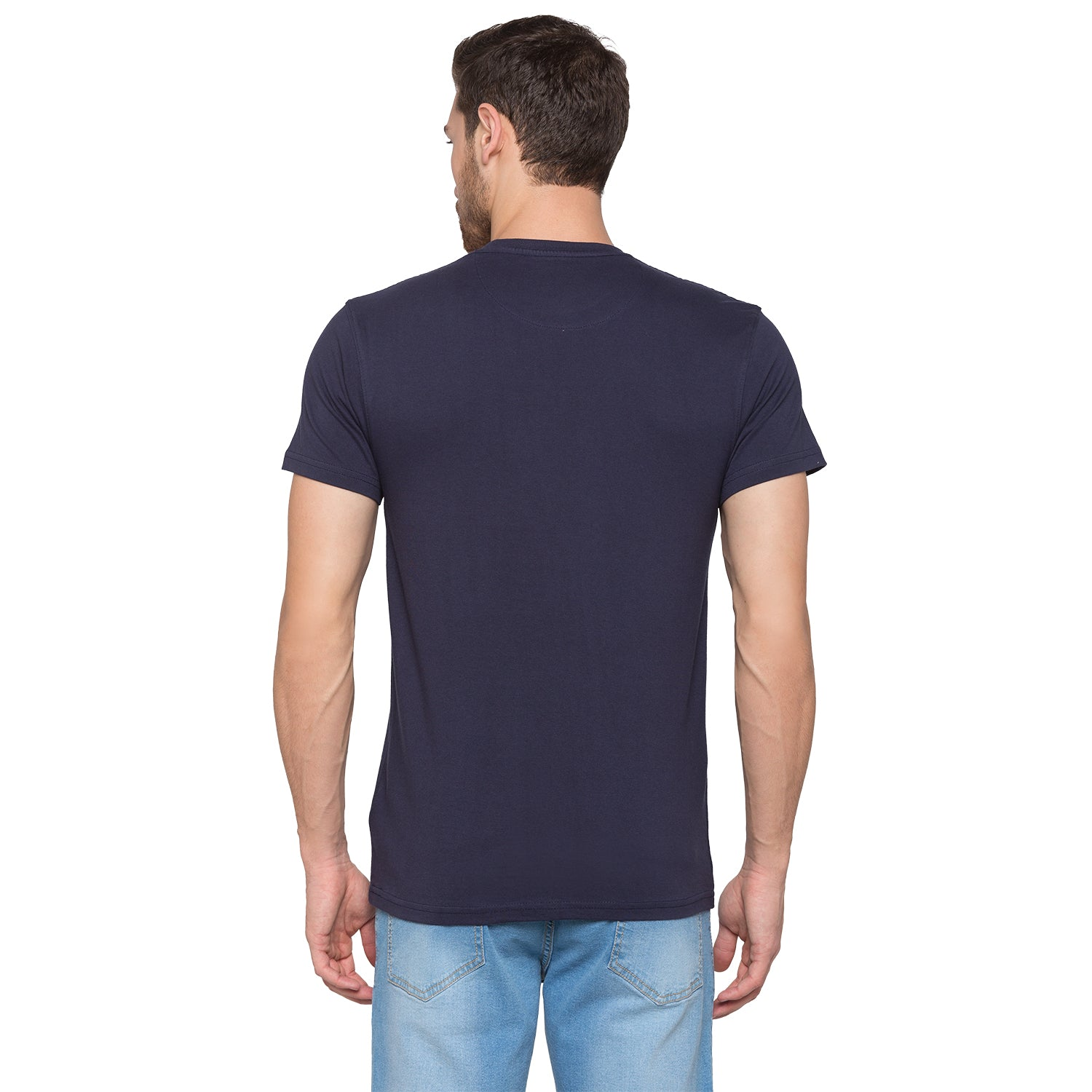 Globus Navy Blue Typography T-Shirt3
