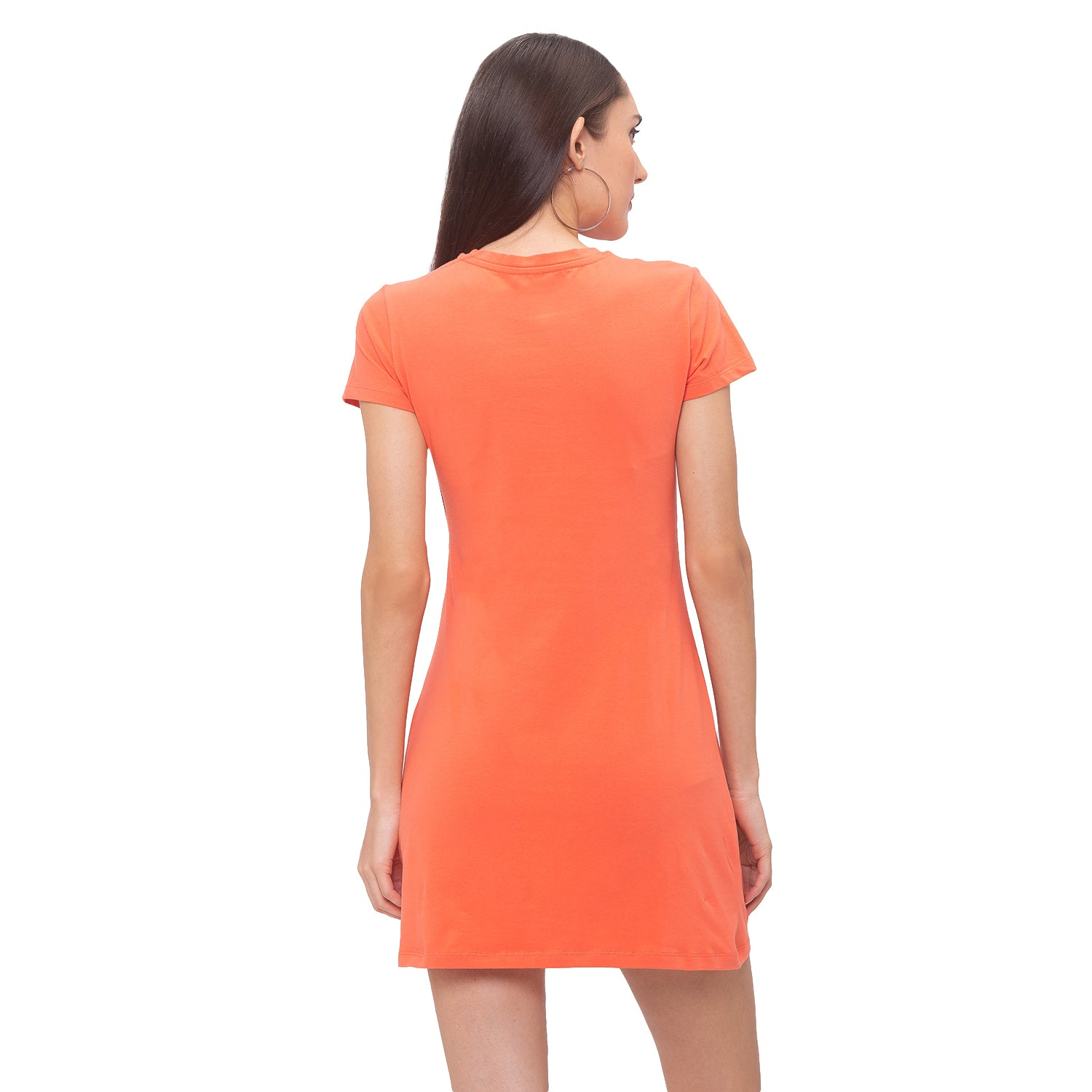 Globus Orange Printed Dress-3