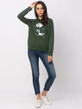 Load image into Gallery viewer, Globus Green Printed Sweatshirt-2