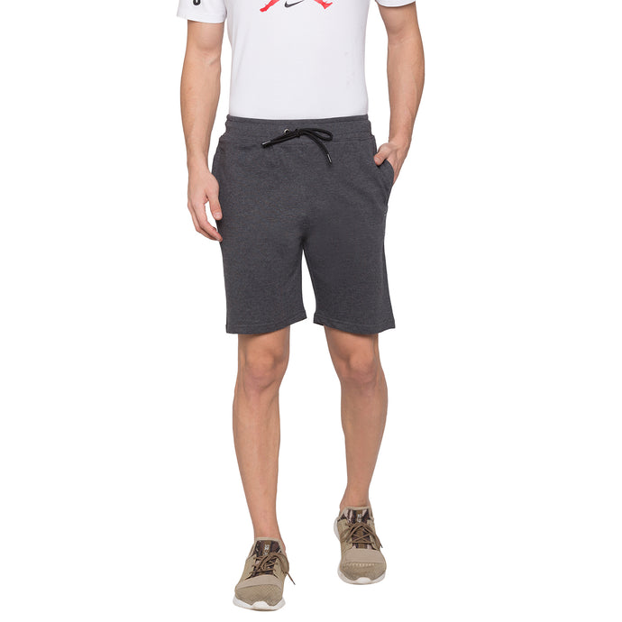 Globus Grey Solid Shorts1