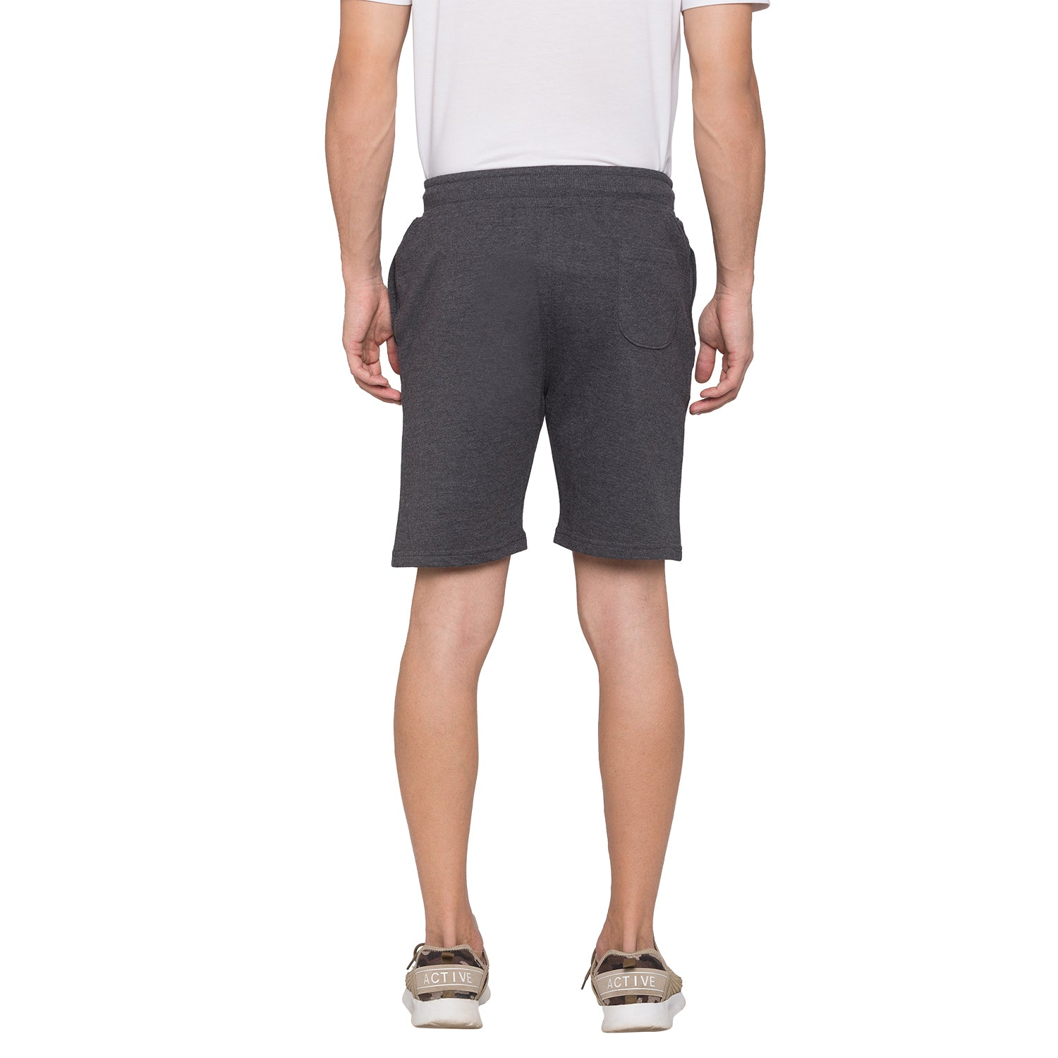 Globus Grey Solid Shorts3