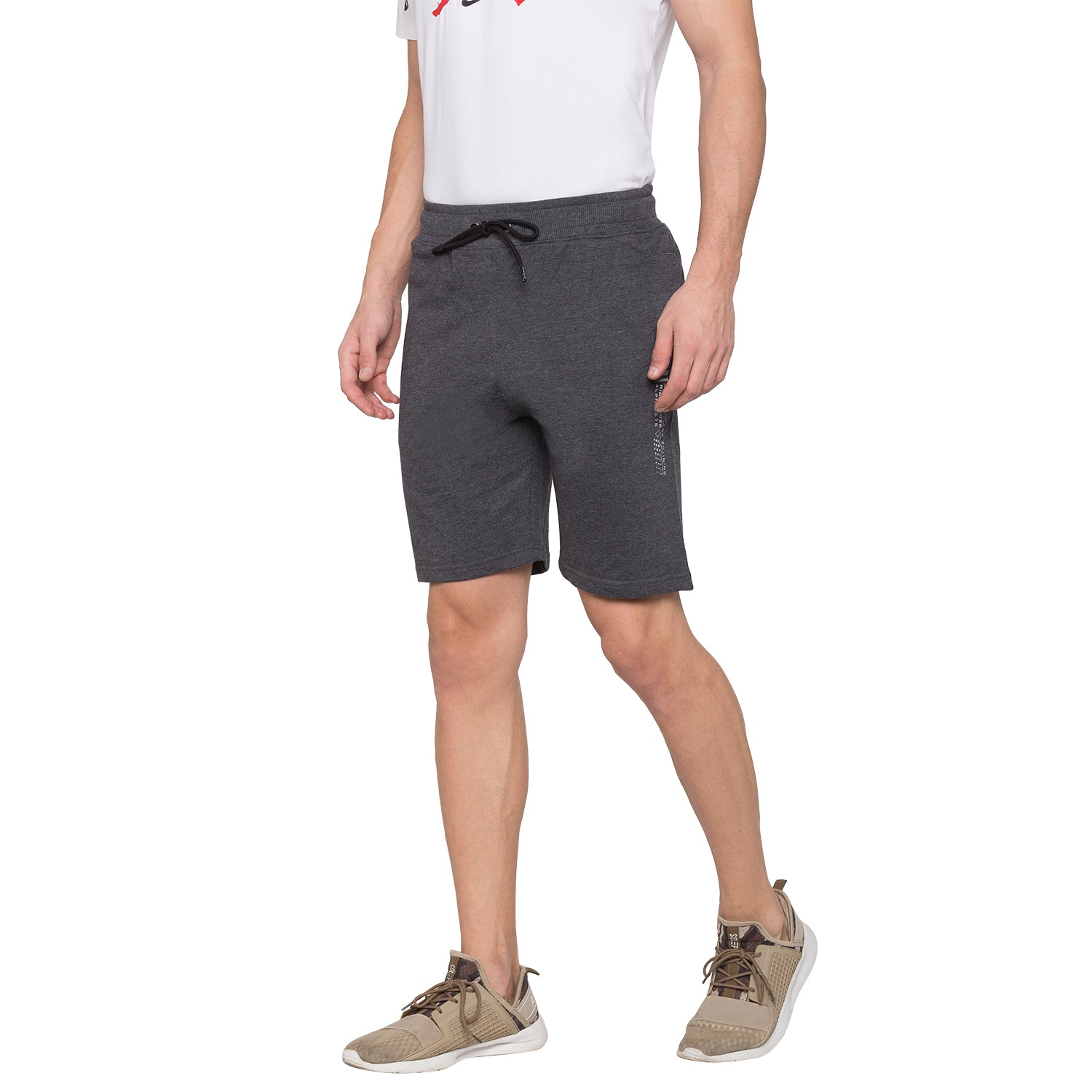 Globus Grey Solid Shorts2