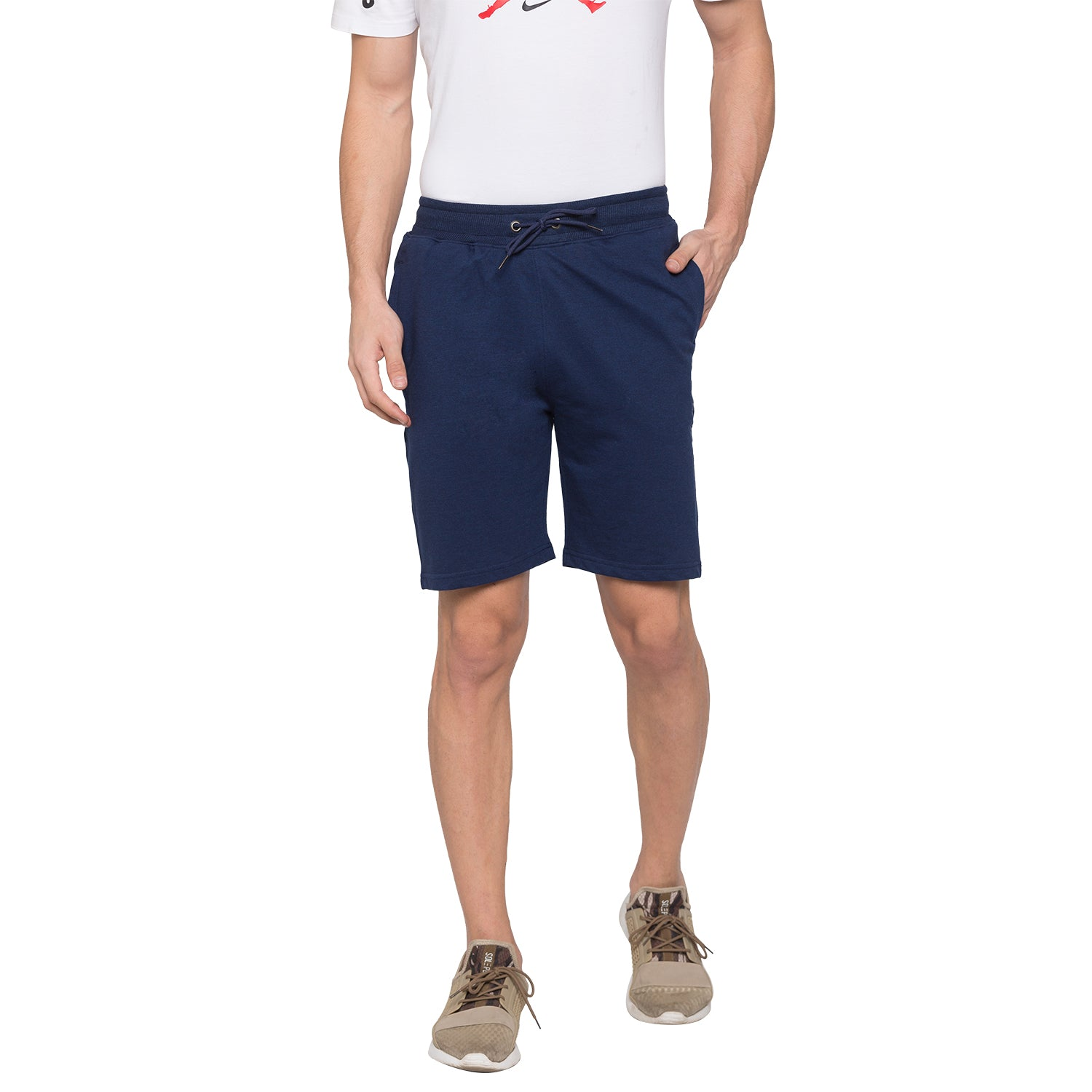 Globus Navy Blue Solid Shorts1