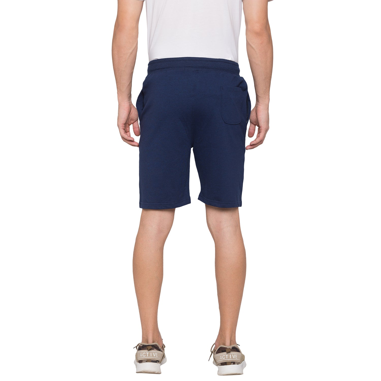 Globus Navy Blue Solid Shorts3