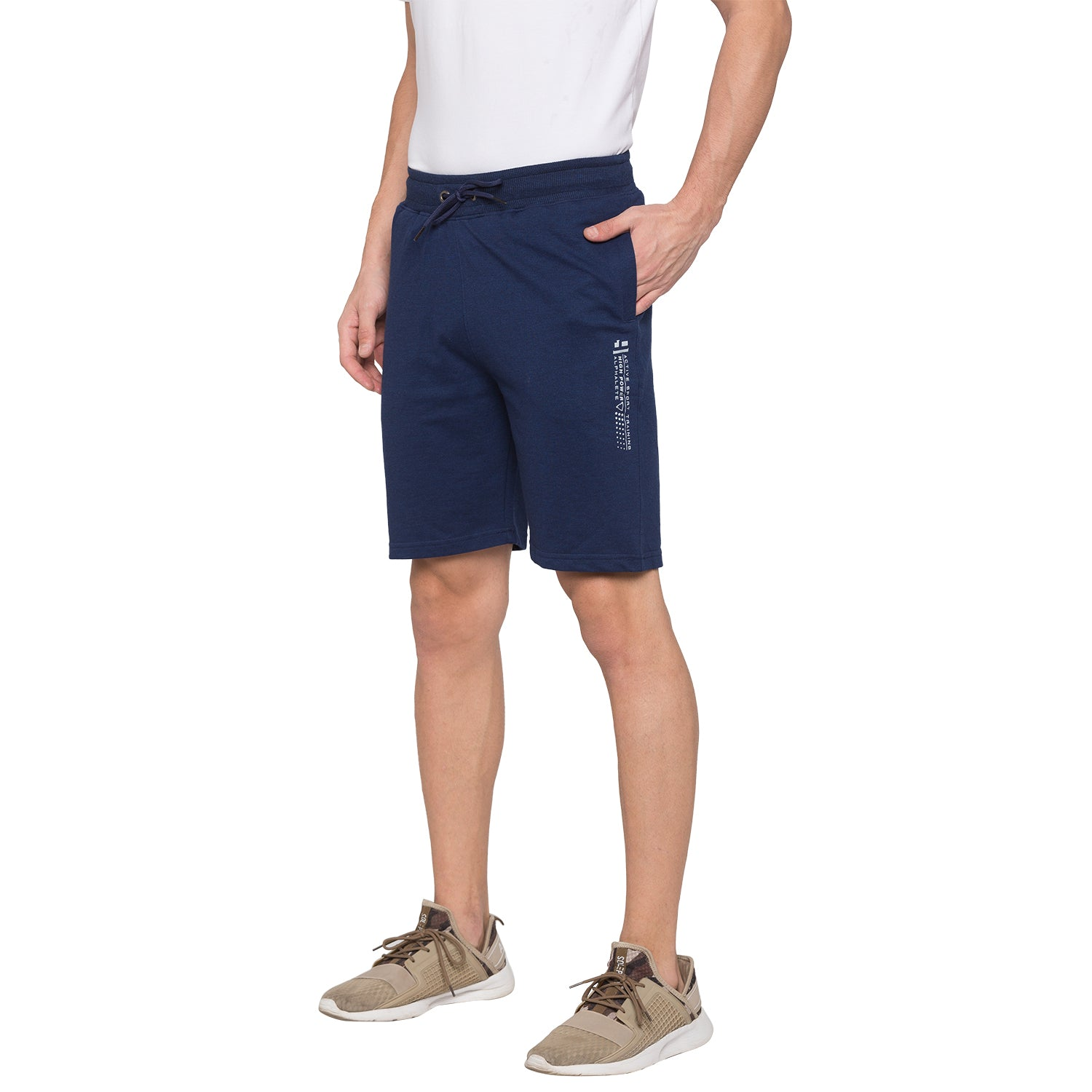 Globus Navy Blue Solid Shorts2