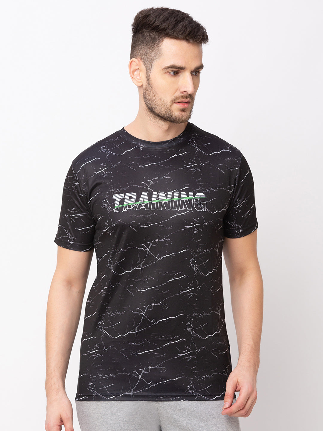 Globus Black Printed T-Shirt-1