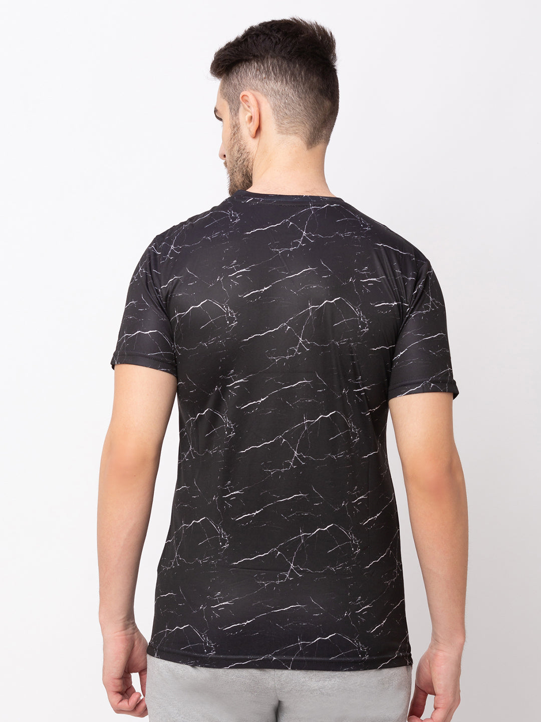 Globus Black Printed T-Shirt-3