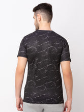 Load image into Gallery viewer, Globus Black Printed T-Shirt-3