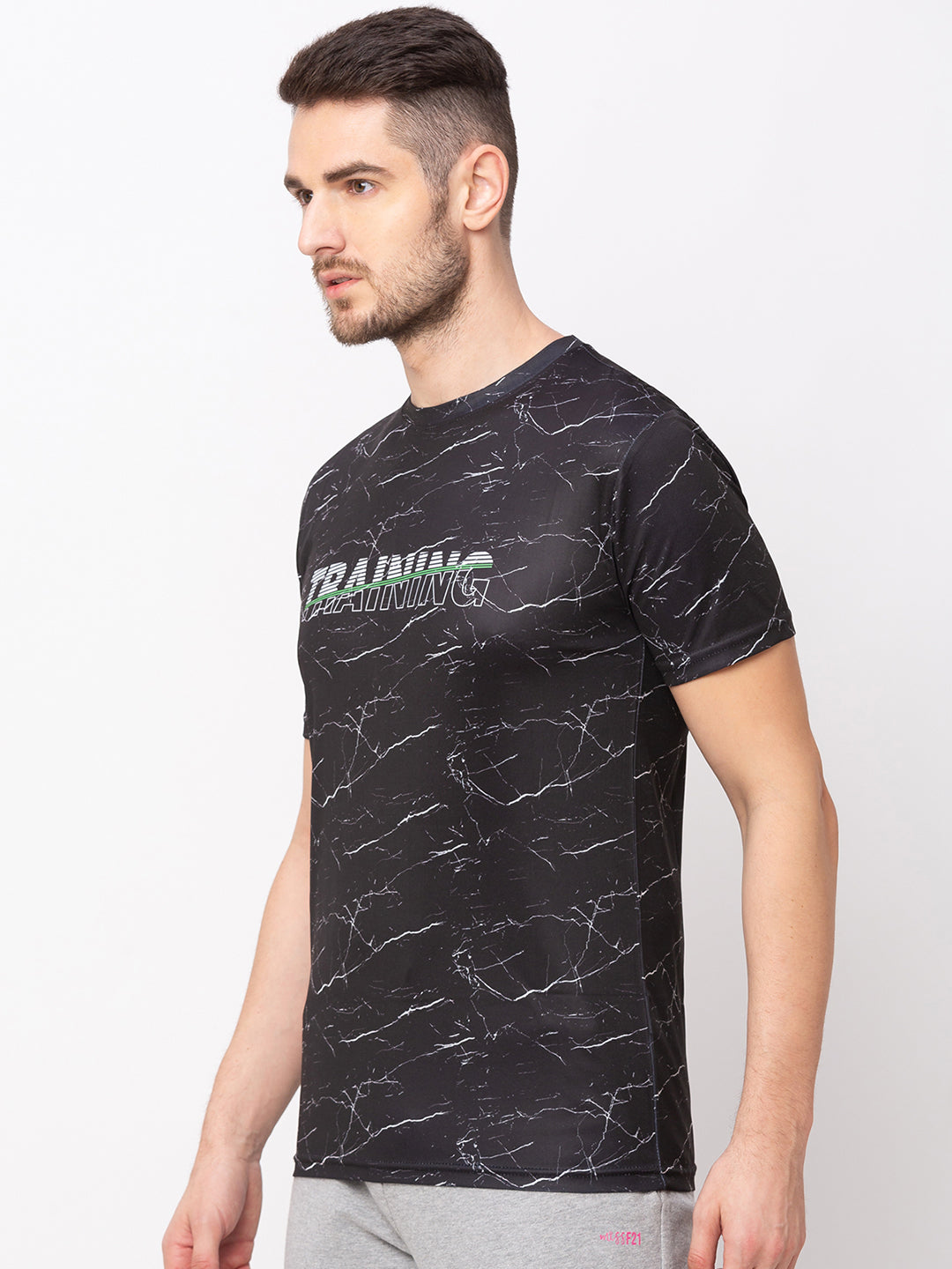 Globus Black Printed T-Shirt-2
