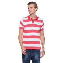 Load image into Gallery viewer, Globus White Striped Polo T-Shirt-1
