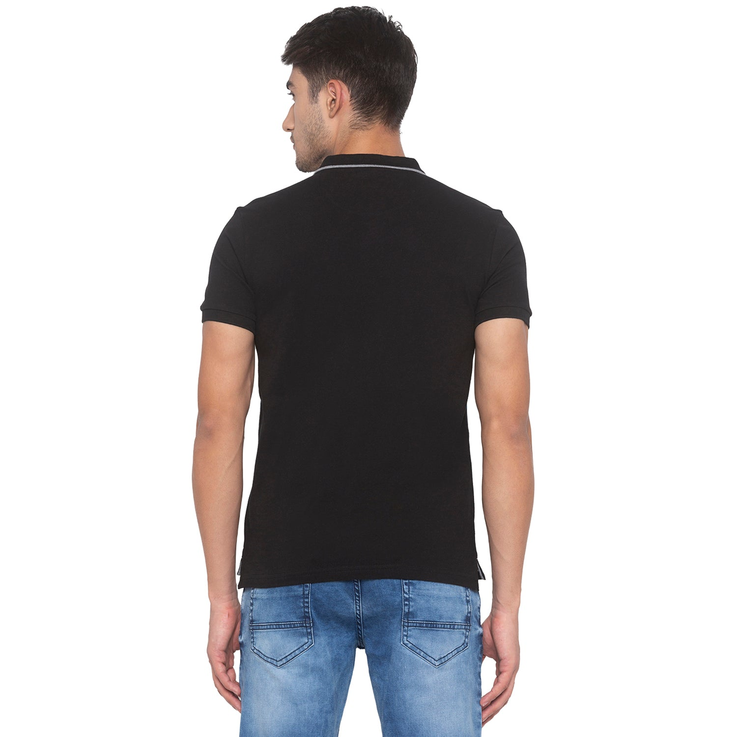 Black Printed T-Shirt-3