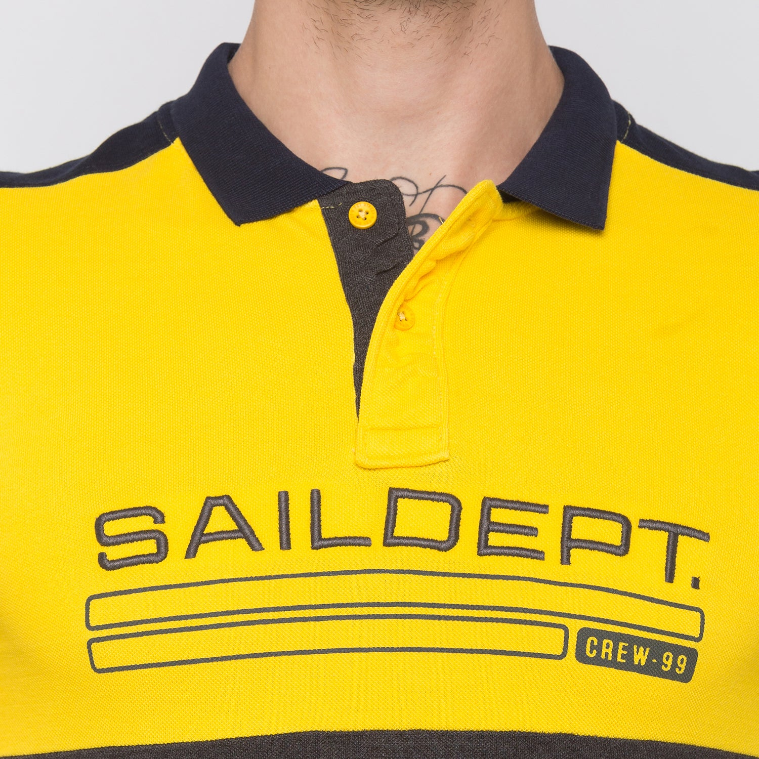 Globus Mustard Colourblocked Polo T-Shirt-5