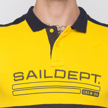 Load image into Gallery viewer, Globus Mustard Colourblocked Polo T-Shirt-5