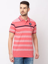 Load image into Gallery viewer, Globus Pink Striped T-Shirt-1