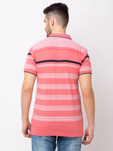 Load image into Gallery viewer, Globus Pink Striped T-Shirt-3