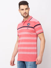 Load image into Gallery viewer, Globus Pink Striped T-Shirt-2