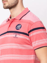 Load image into Gallery viewer, Globus Pink Striped T-Shirt-4