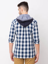 Load image into Gallery viewer, Globus Navy Blue Checked Shirt-3