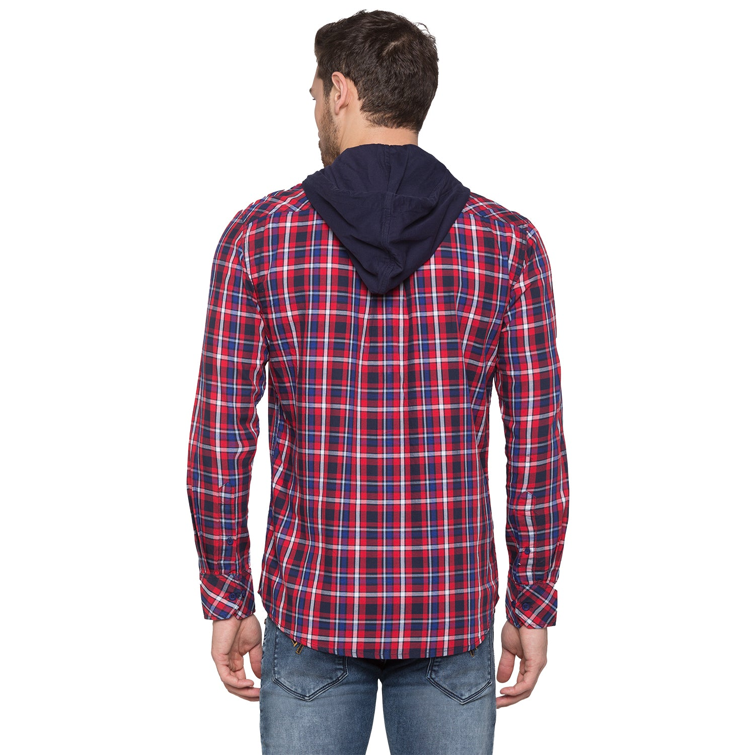 Globus Red & Navy Blue Checked Shirt-3