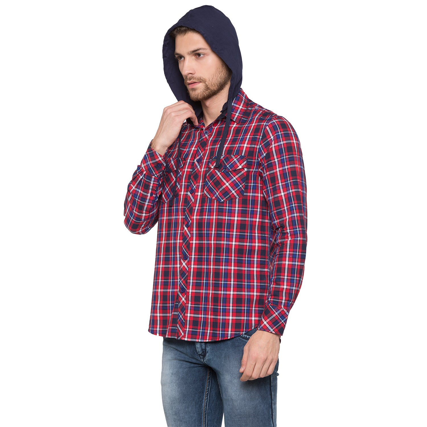 Globus Red & Navy Blue Checked Shirt-2
