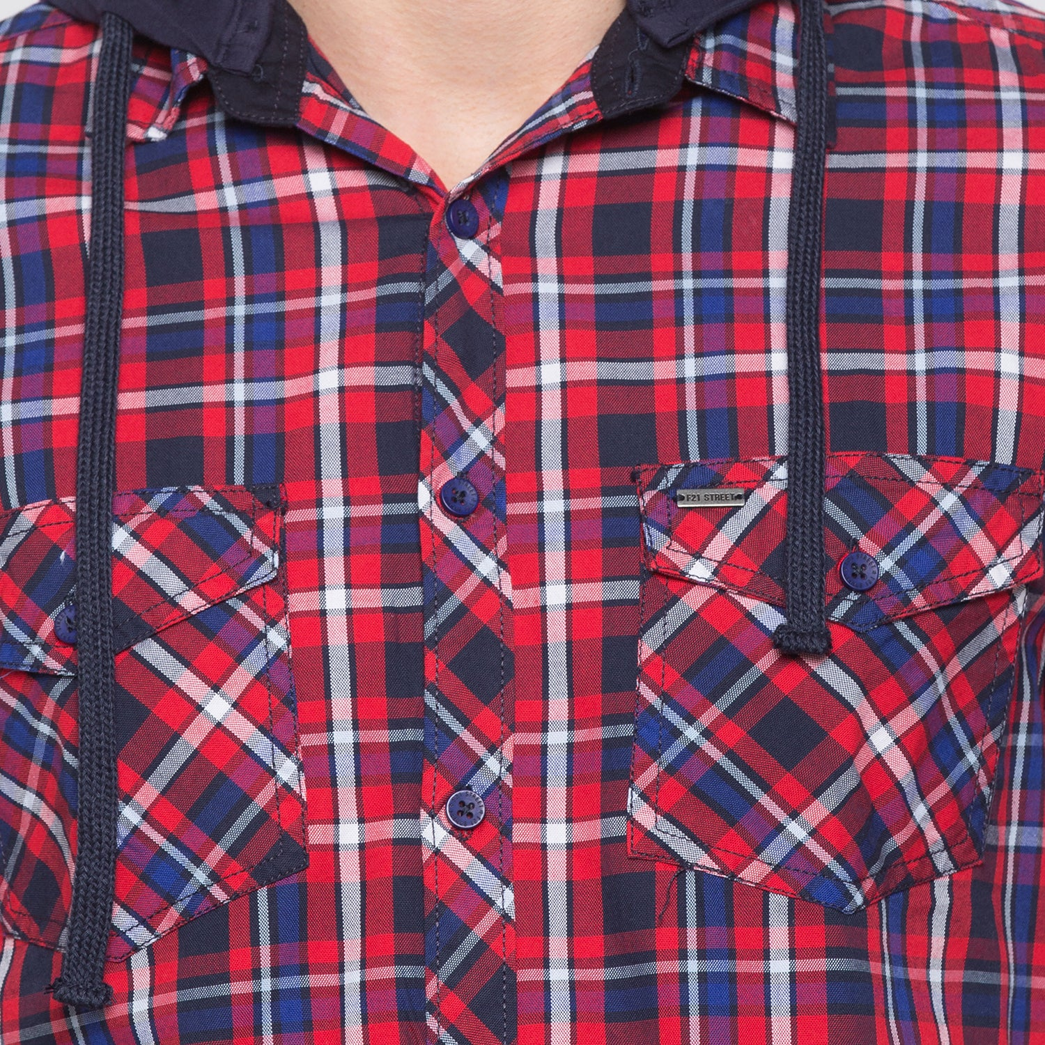 Globus Red & Navy Blue Checked Shirt-5