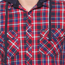 Load image into Gallery viewer, Globus Red & Navy Blue Checked Shirt-5