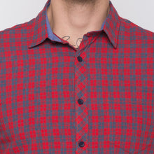 Load image into Gallery viewer, Globus Red & Navy Bue Checked Shirt-5