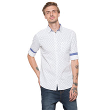Load image into Gallery viewer, Globus White Printed Shirt-1